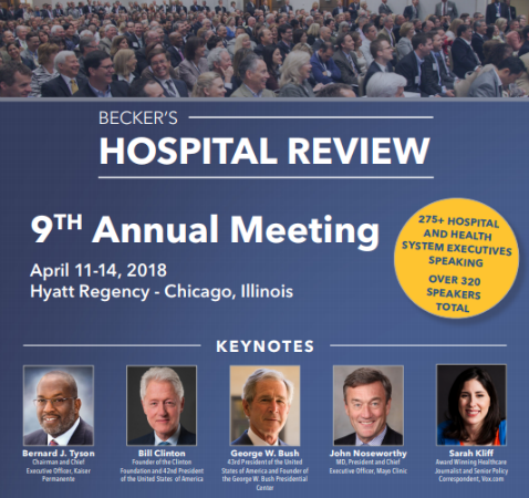 2018 Becker's Hospital Review